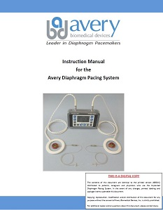 Diaphragm Pacing System System Details From Avery Biomedical